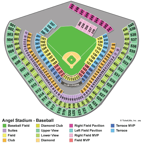 20 images los angeles angels seat chart