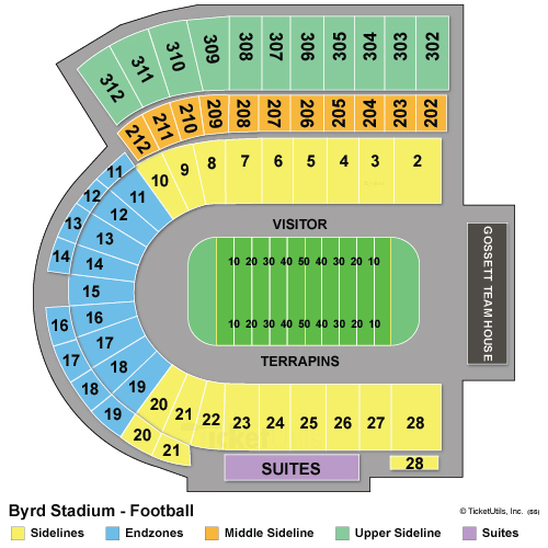 Maryland Stadium Seating Chart