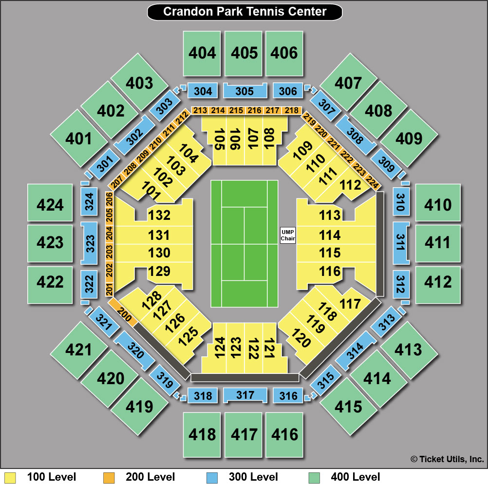 Crandon Park Tennis Center Seating Chart