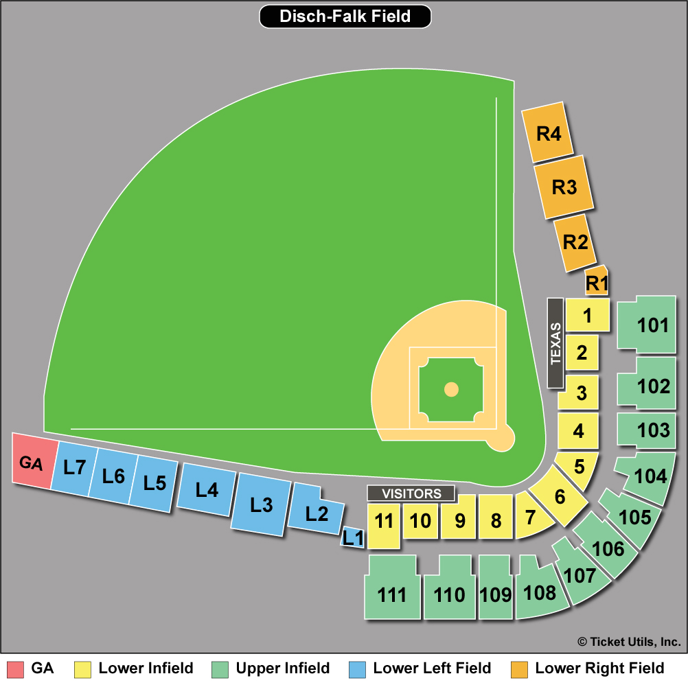 UFCU Disch–Falk Field Seating Chart