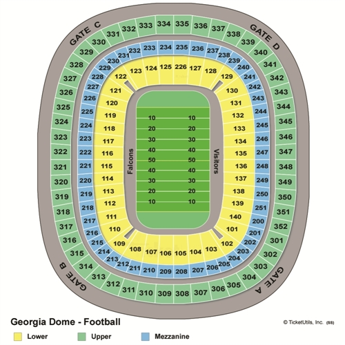 Georgia Dome Seating Chart
