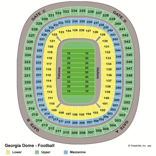 Georgia Dome Seating Chart