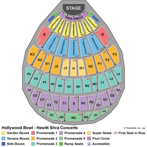 Hollywood Bowl Seating Chart