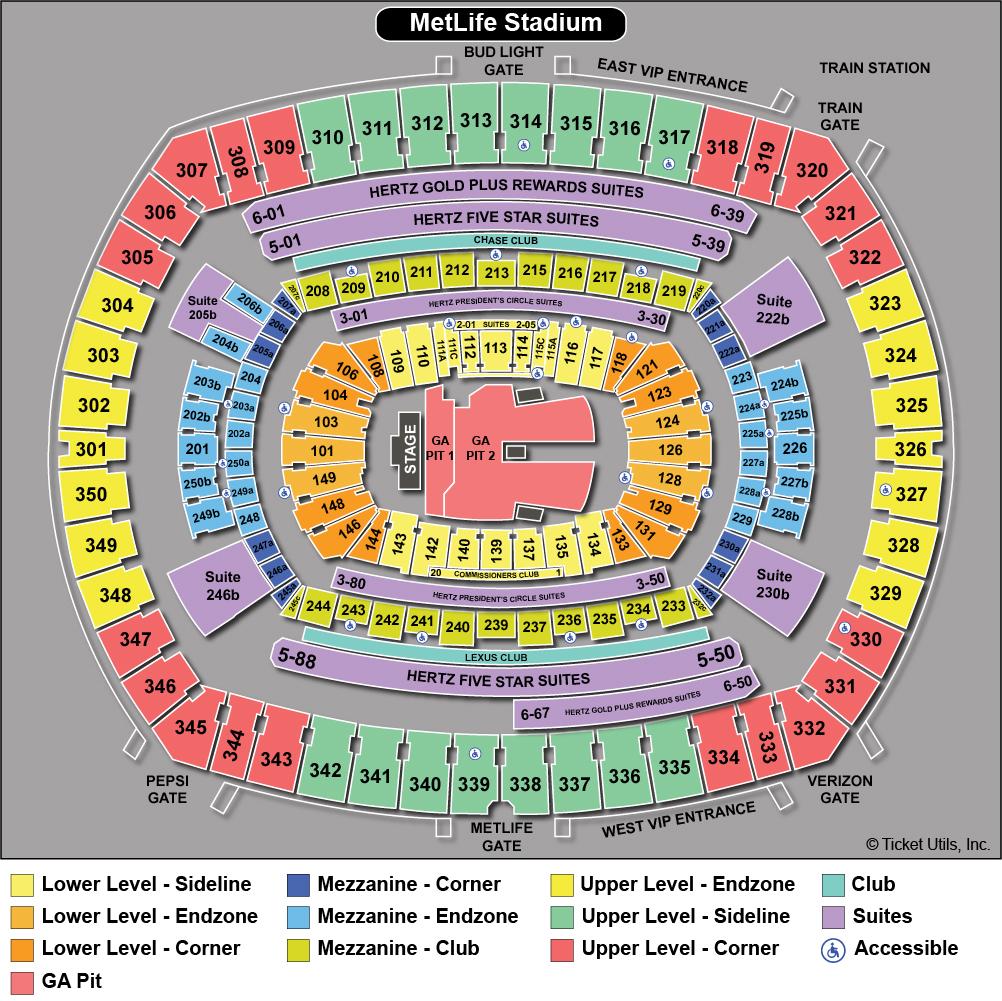 Metlife Stadium Seating Chart