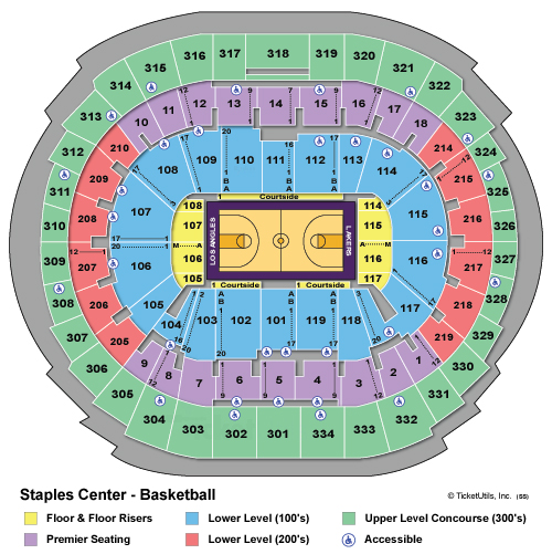 Staples Center Basketball Seating Chart