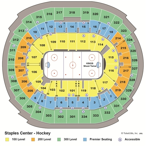Staples Center Hockey Seating Chart