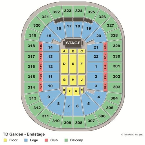 TD Garden Concert Seating Chart