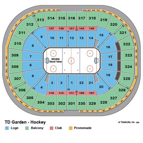 TD Garden Hockey Seating Chart
