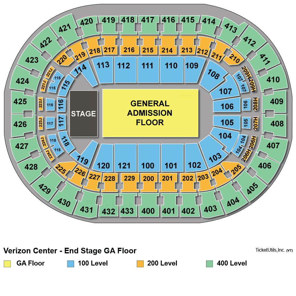 Verizon Center Concert Seating Chart