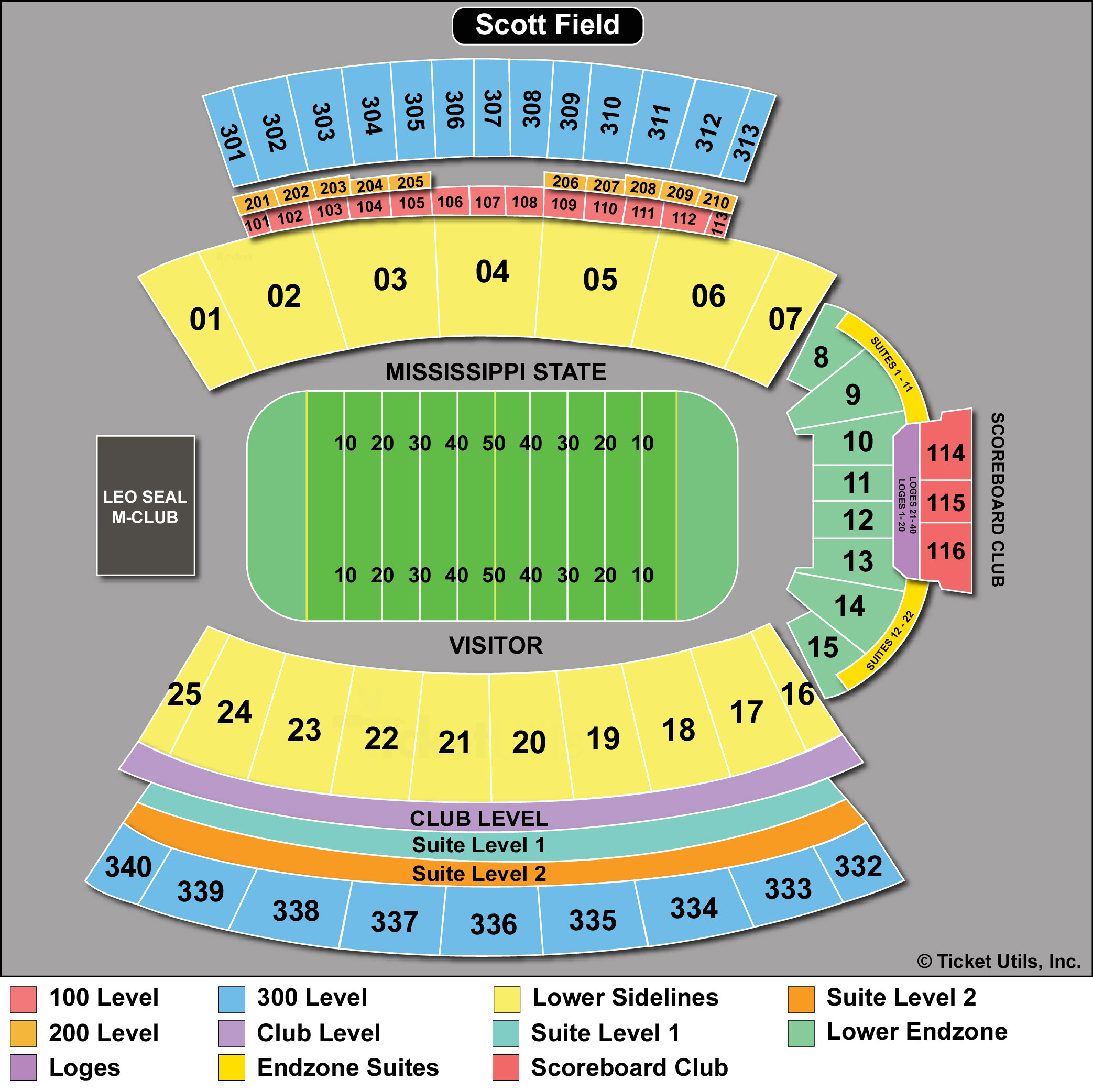 Davis Wade Stadium Seating