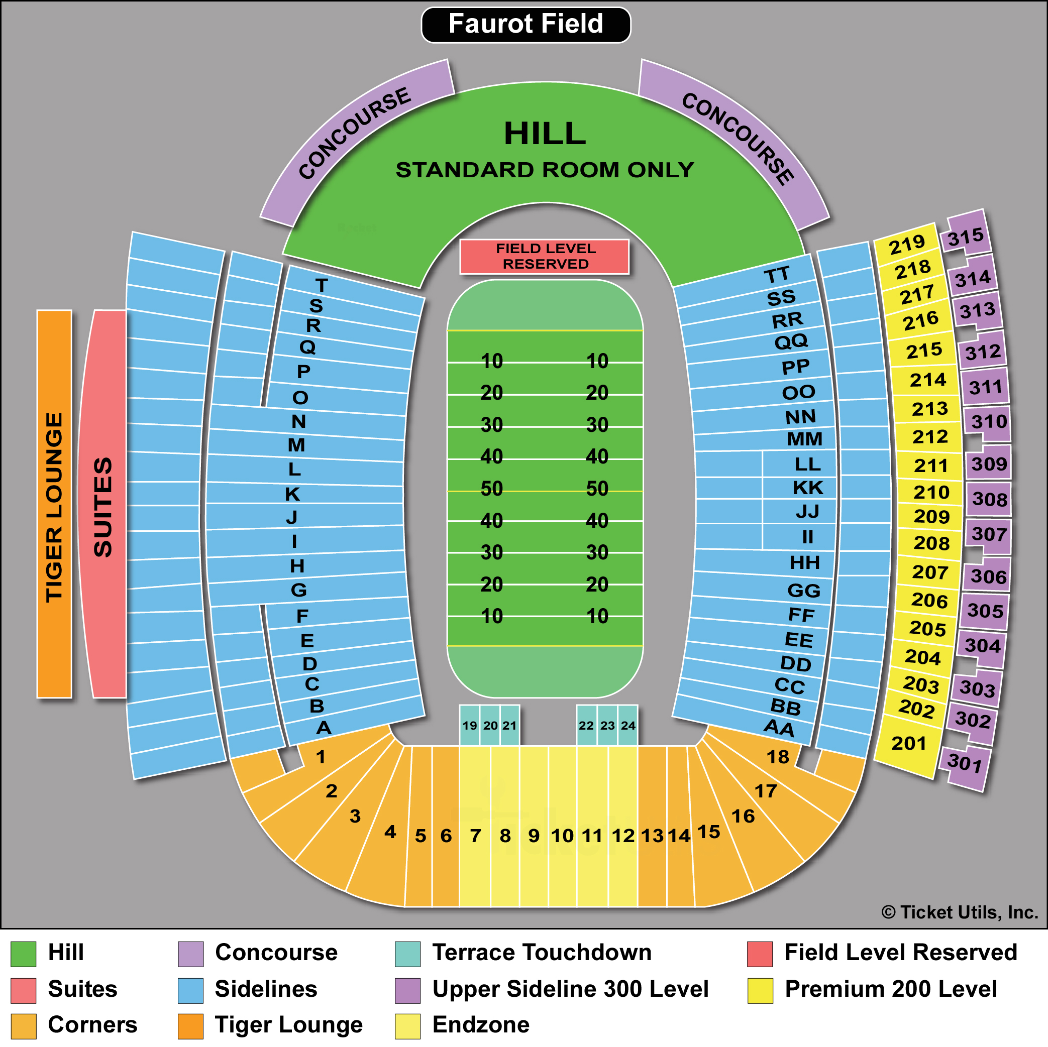 Faurot Field Seating Chart