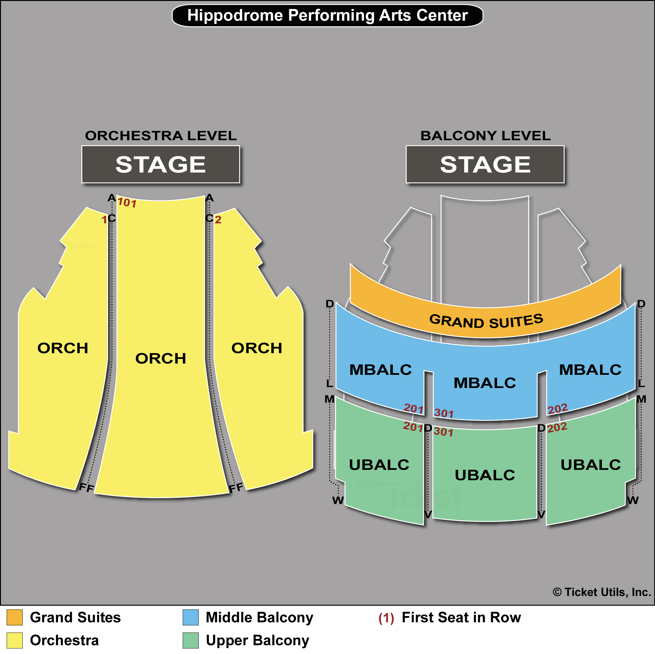 Hippodrome Theatre Seating Chart