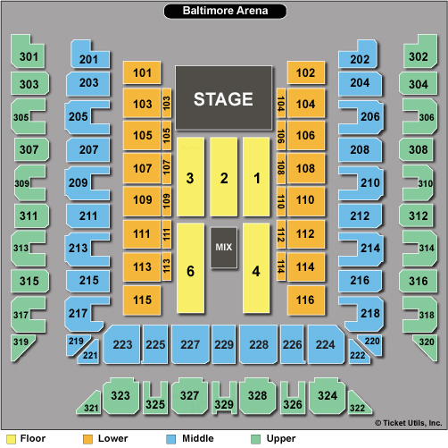 Royal Farms Arena Seating Chart