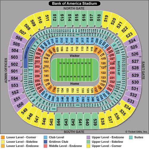 Bank of America Stadium Seating Chart