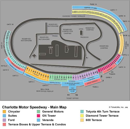 Charlotte Motor Speedway Seating Chart
