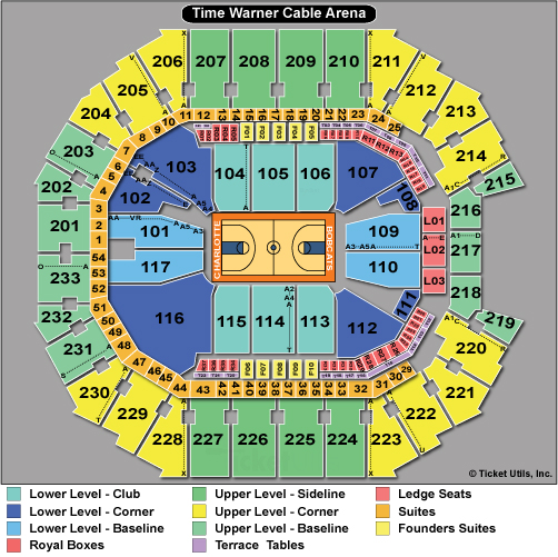 Spectrum Center Seating Chart