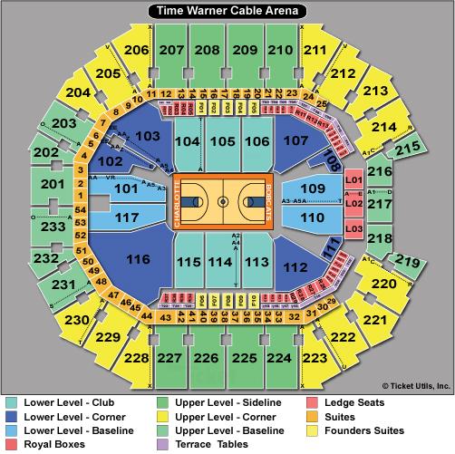 Spectrum Center Seating Chart