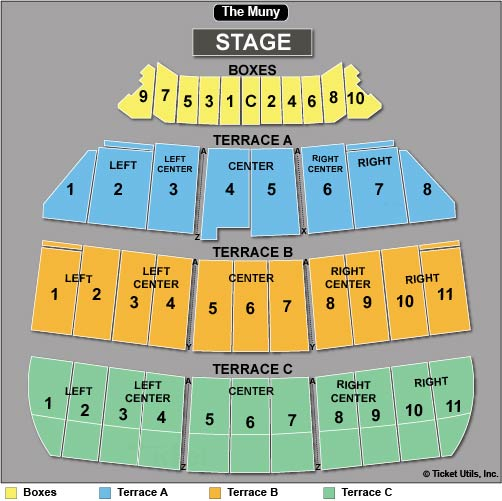 The Muny Seating Chart