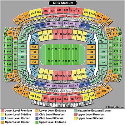 NRG Stadium Super Bowl Seating Chart