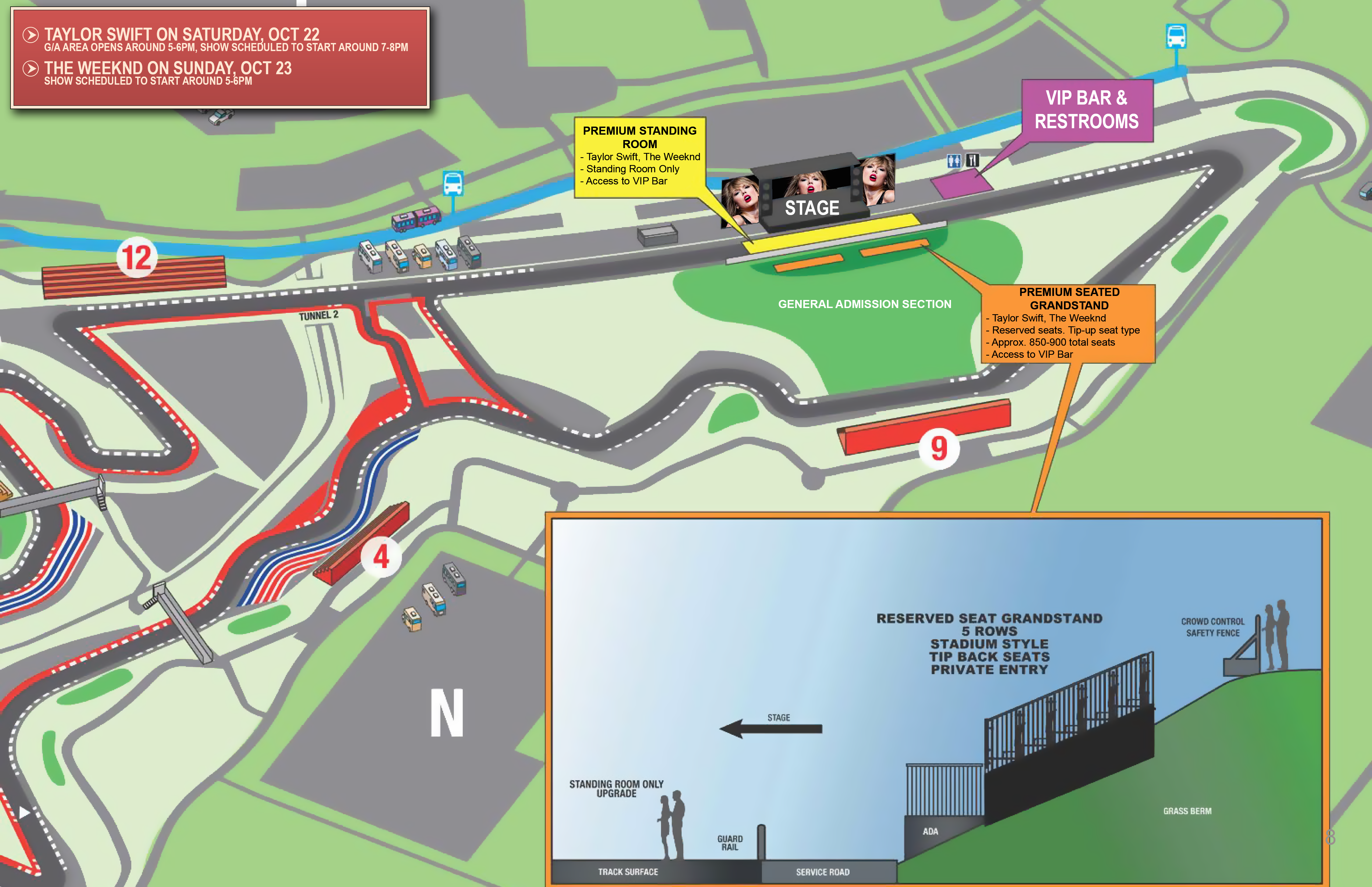 Circuit of the Americas F1 Concert Series Seating Chart