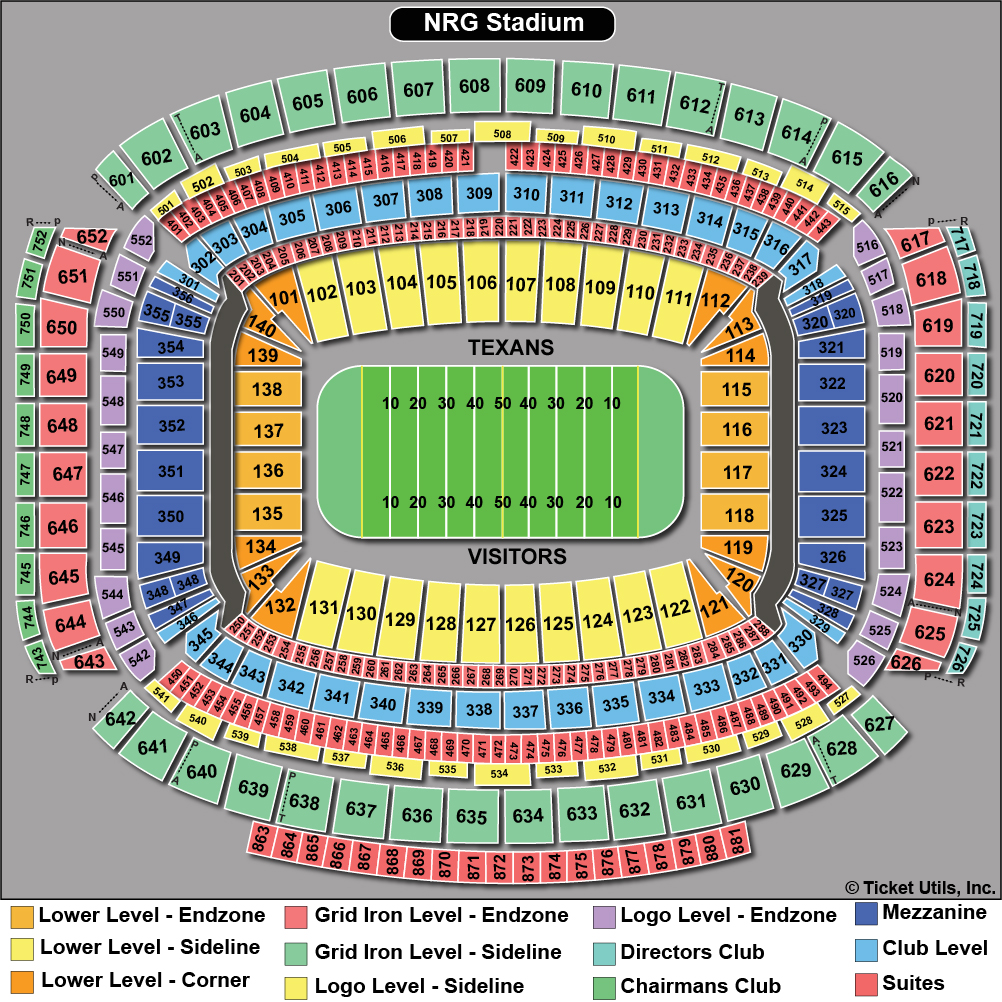 Nrg Stadium Tickets Football Rodeo Seating Chart