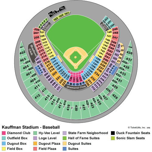 Kauffman Stadium Seating Chart