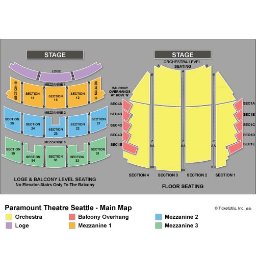 Seattle Paramount Theatre Seating Chart