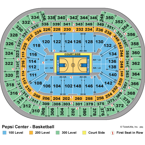 Pepsi Center Basketball Seating Chart
