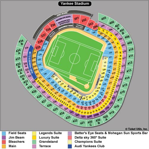 Yankee stadium tickets baseball seating chart