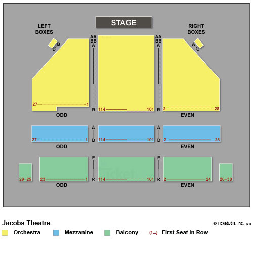 Jacobs Theatre Seating Chart